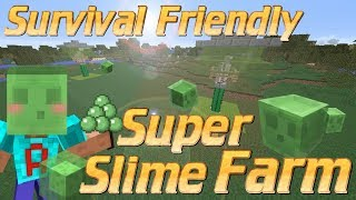 Mini auto slime farm easy minecraft tutorial music jinni how to make a slime farm in minecraft survival friendly slime farm minecraft tutorial no redstone ccuart Image collections
