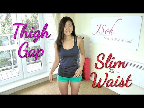 Inner Thigh Gap & Slim Waist Workout (Do This!)