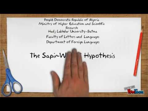 The Sapir Whorf Hypothesis