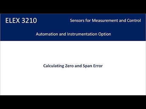 Calculating Zero and Span Error