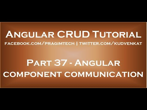 Angular component communication