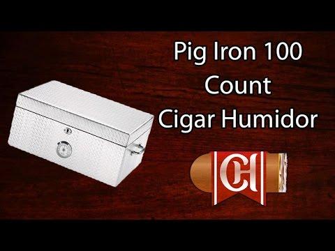 Pig Iron 100 Count Diamond Plate Cigar Humidor