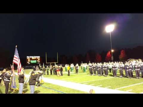 Strongsville Football New Flag Ceremony 10-28-16
