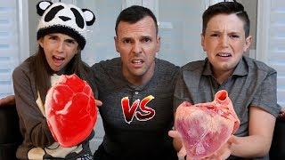 GUMMY FOOD vs REAL FOOD!! - Gross Edition