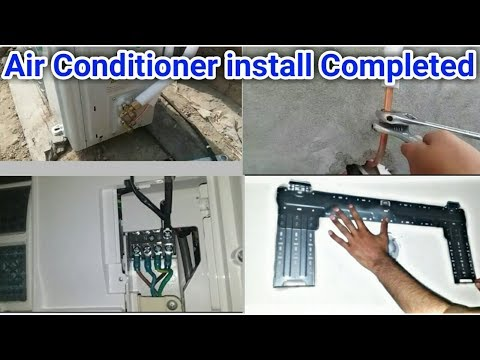 Split air conditioner installation full video step by step in Urdu/Hindi