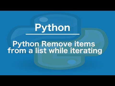 Python Remove items from a list while iterating