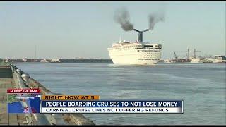 Carnival passengers upset because ships sail despite Hurricane Irma