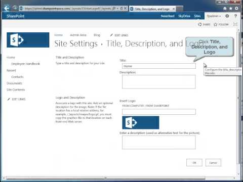 How to Change the Title of a SharePoint 2013 Site - SharePoint 2013 Tutorials
