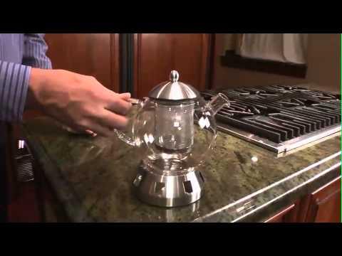 DORADO SELF BREWING GLASS & STAINLESS TEA KETTLE by BergHOFF 1107035 90