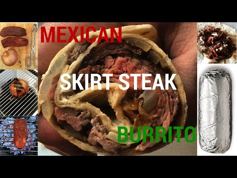 Mexican Skirt Steak Burritos - On the grill