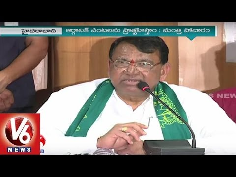Pocharam Srinivas To Promote Organic Farming In Telangana | V6 News