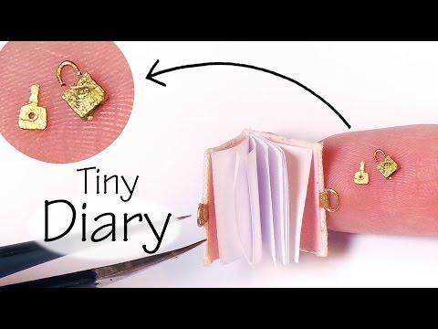 Doll / Miniature Diary Tutorial (W/
