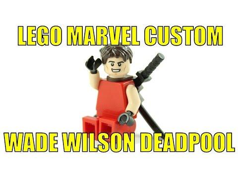 LEGO MARVEL CUSTOM WADE WILSON DEADPOOL MINIFIGURE