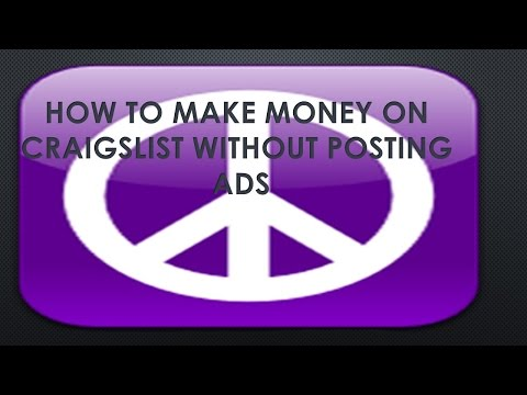 CRAIGSLIST|HOW TO MAKE MONEY ON CRAIGSLIST WITHOUT POSTING ADS