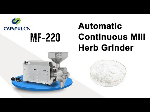 Automatic Continuous Mill Herb Grinder, Coarse Cereal Pulverizer MF-220
