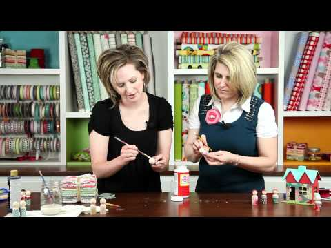 Liz Evans shows how to make Peg People