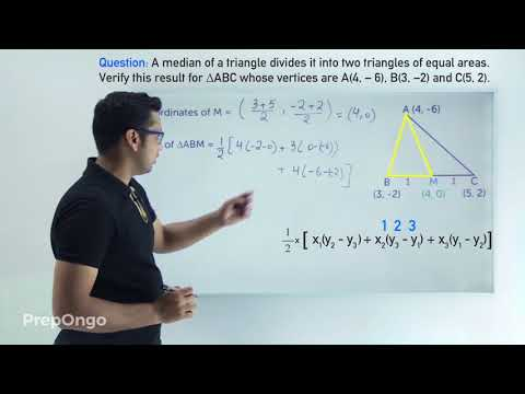 Explanation of median dividing a triangle into two triangles of equal areas