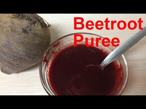 How to Make Beet Puree for Babies | Baby Food
