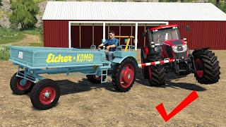 Strange Eicher KOMBI Tractor see what it can | Grain, potatoes and what else will it pull | LS19