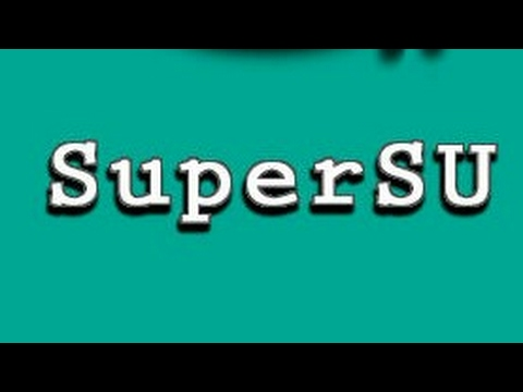 SuperSU install without any rooting apps