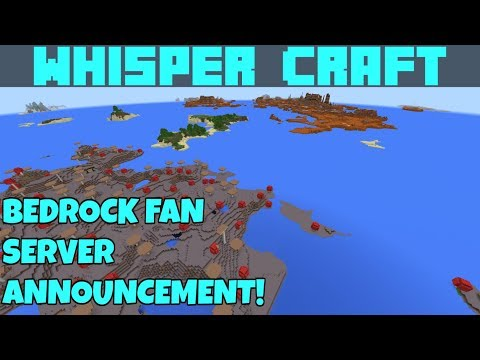 Announcement! The Whisper Craft Bedrock Realm, Is launching!