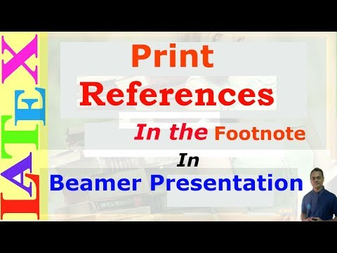 Print References in the Footnote in Beamer Presentation (LaTeX: Tips/Solution-31)