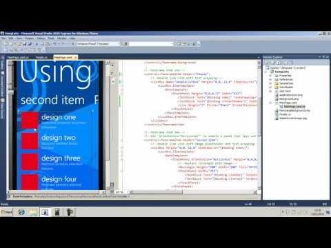 Windows Phone 7 Development - Using Lists and Bindings - Part 2