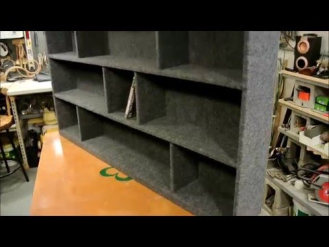 Felt-lined video game shelf