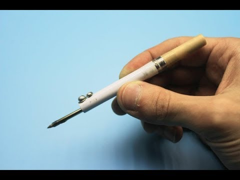 Micro soldering iron made from electronic cigarette