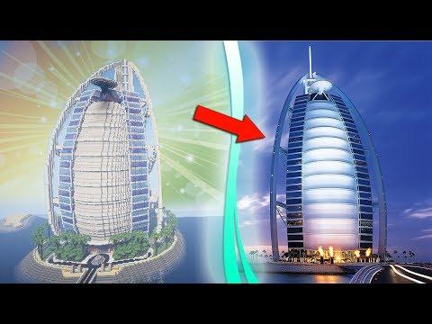THE MOST ACCURATE BURJ AL ARAB IN MINECRAFT - MODERN HOTEL