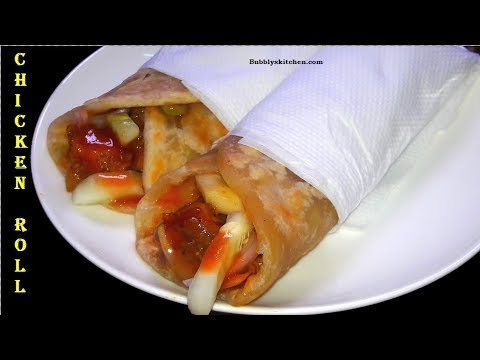 Chicken Roll Recipe in Hindi / Urdu - Chicken Frankie  Recipe