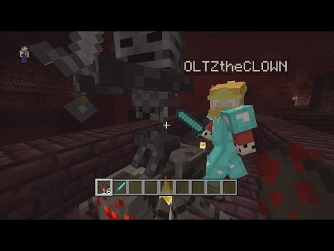 Minecraft (Xbox & PS3) TU19 HIDDEN FEATURE - WITHER SKELETON JOCKEY - GAMEPLAY!