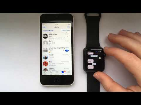 Whatsapp for Apple Watch all Series   How to open and reply to conversations