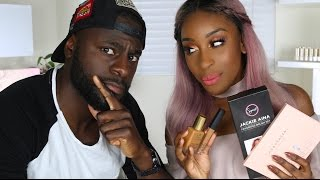 BOYFRIEND Guesses Beauty Product Prices!   Jackie Aina