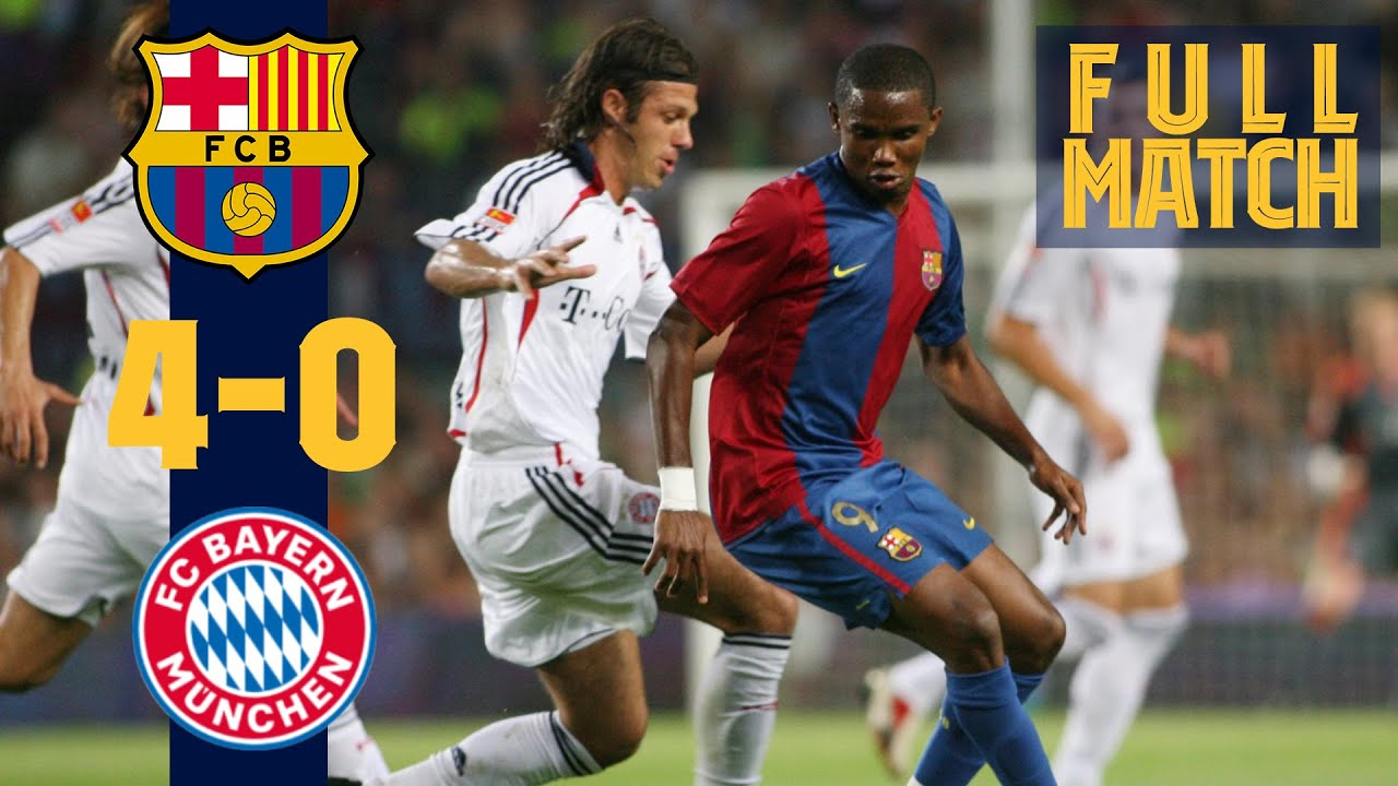 FULL MATCH: BARÇA 4-0 BAYERN (2006) with ETO'O, RONALDINHO, XAVI...