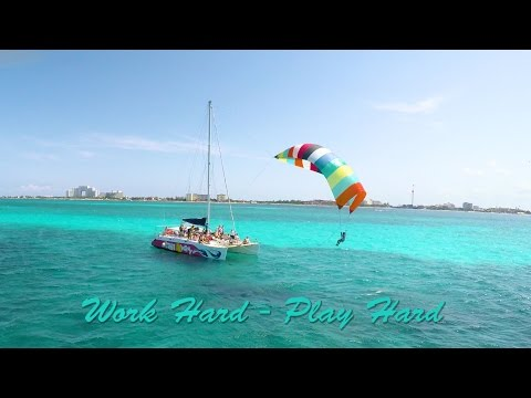 Cancun Mexico - Insurance Agents Vacation Riding the Spinnaker a Catamaran tour of Isla Mujeres
