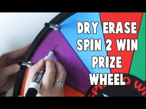 Dry Erase Spin 2 Win Prize Wheel
