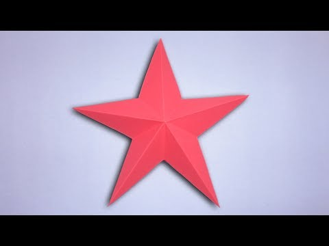 Simple and Easy Paper Star - DIY Origami 3D Star For Decoration