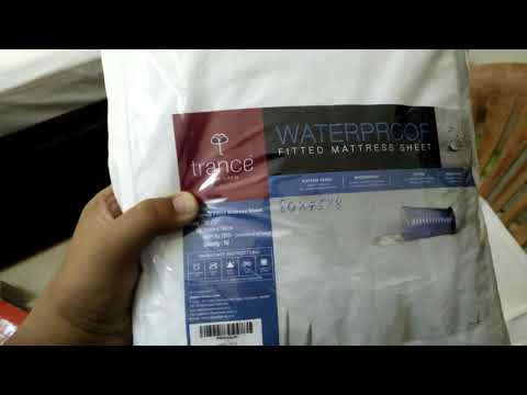 #Unboxing Trance Home Linen Waterproof & Dustproof Mattress Protector King Size  Customized