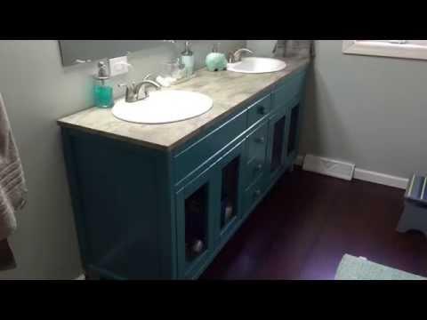 Bath vanity build with Grizzly Mini Track Saw