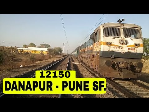 WDP-4D at Full Throttle || 12150 DNR- PUNE SF Exp at its Best.