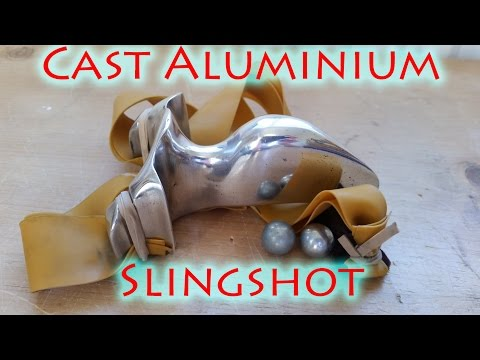 How To Cast a Full Aluminium Slingshot Using Lost Foam Casting at Home