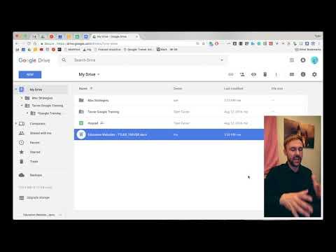 Using Microsoft Word // Google Drive