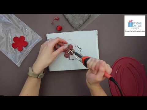 Fabric camellia tutorial video