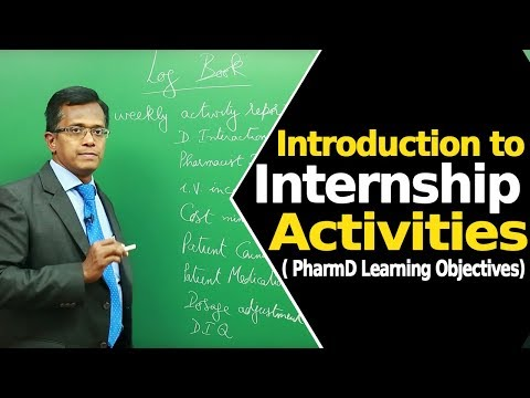 Introduction to Internship Activities | PharmD Learning Objectives |