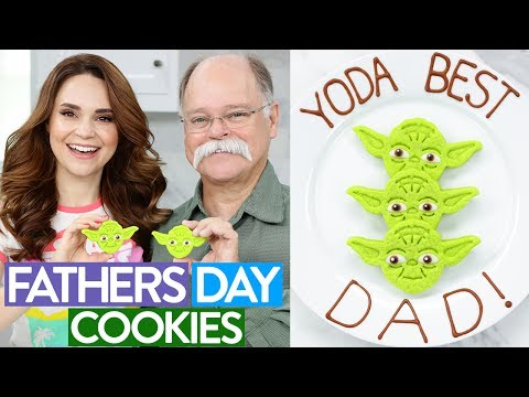 watch DIY FATHERS DAY YODA COOKIES