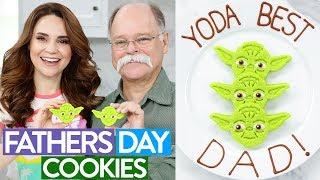 DIY FATHERS DAY YODA COOKIES