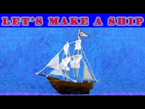 DIY : Making miniature Ship using popsicle sticks
