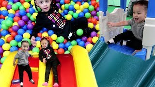 Download Family fun playtime with Hide and Seek at Indoor Playground for kids Video