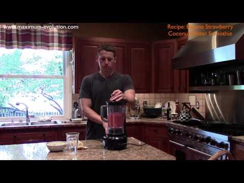 Banana Strawberry Coconut Water Smoothie Recipe